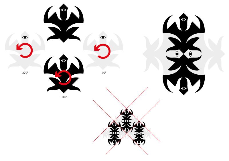 fig. 6 - composizione del modulo e sua ripetizione