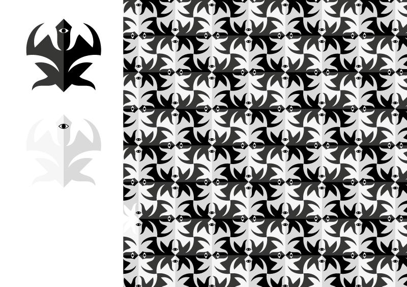 tassellatura in bianco e nero con quadrati visibili