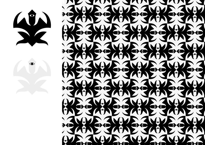 tassellatura in bianco e nero