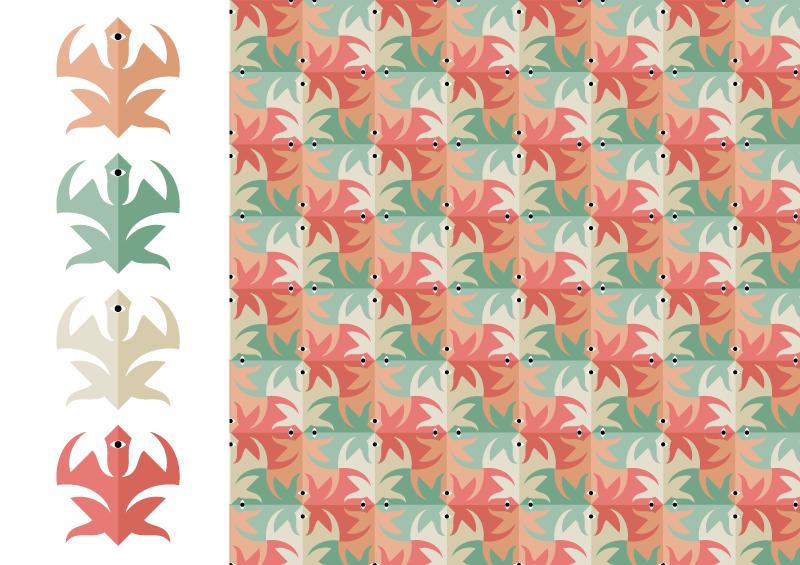 tassellatura a colori con quadrati visibili