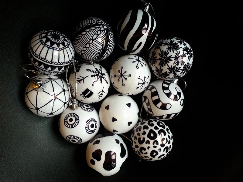 palle di natale fatte a mano