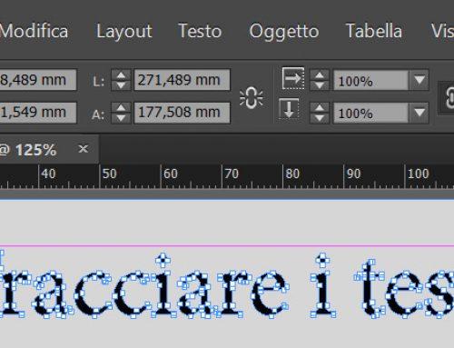 Tracciare i testi prima di stampare con InDesign